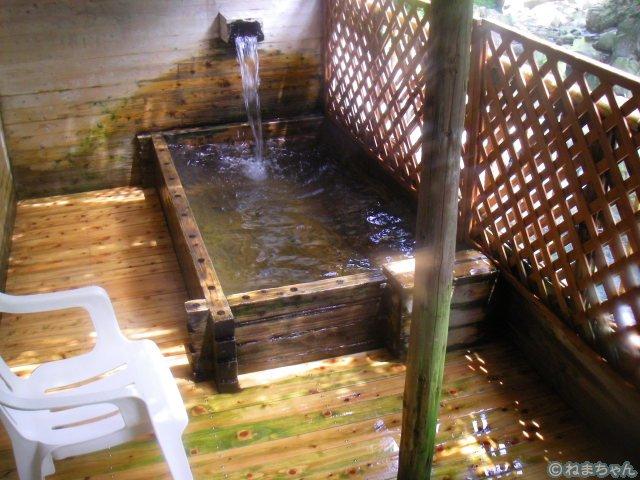 「鈍川温泉ホテル」露天風呂