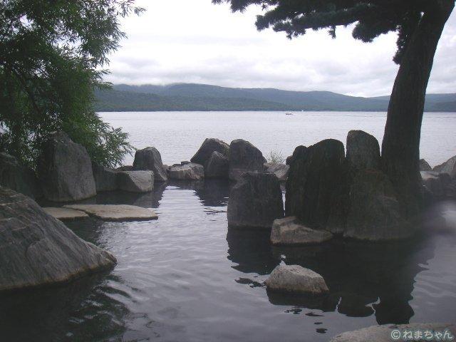 「あかん遊久の里 鶴雅」庭園露天風呂鹿泉の湯