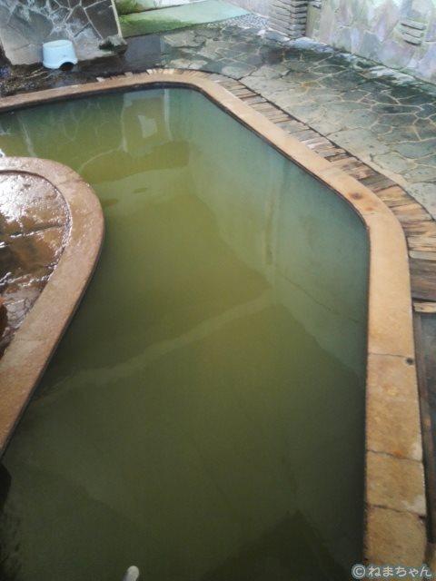 「高友旅館」大浴場黒湯