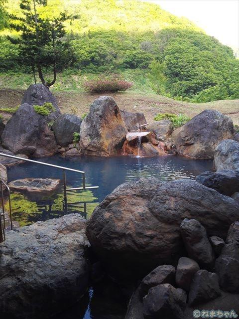「ホテル国富翠泉閣」露天風呂