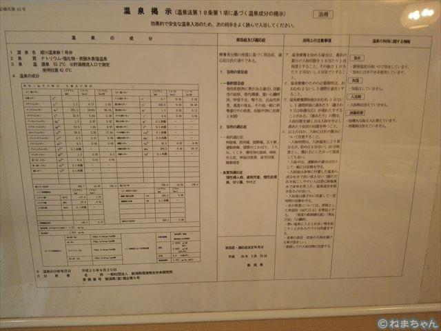 「ホテル国富翠泉閣」温泉分析書