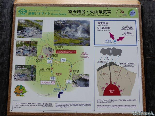 蓮華温泉マップ