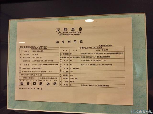 ホテルふじ竜ヶ丘「温泉利用証」